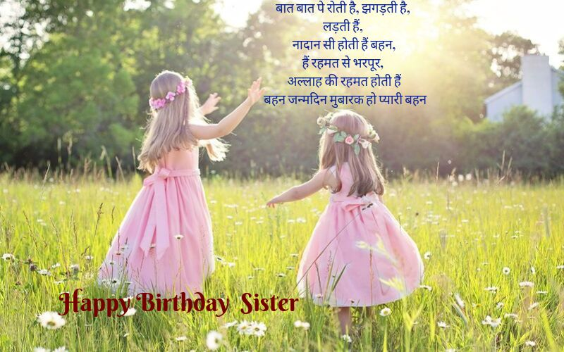 birthday wishes for sister in hindi funny