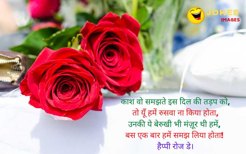 happy rose day wishes for wife in hindi