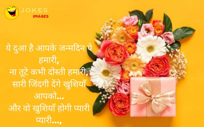 funny birthday wishes to a friend in hindi