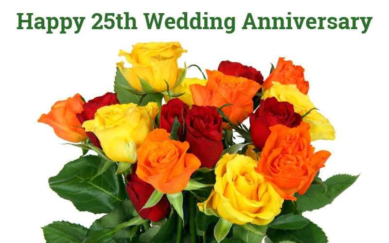 25th Wedding Anniversary Wishes in Hindi